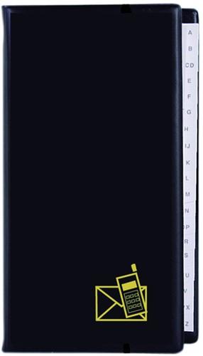 Telefoonalbum KTC large 4-rings A-Z zwart, bordeauxrood, zilvergrijs en blauw