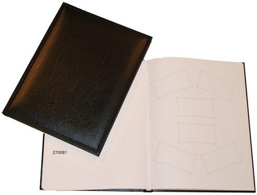 Receptiealbum gestikt 205x260mm zwart