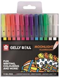 Gelschrijver Sakura Gelly Roll Moonlight blister à 12 stuks assorti