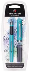 Kalligrafiepen Sheaffer Viewpoint 1.3mm blauw in blister