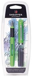 Kalligrafiepen Sheaffer Viewpoint 2.0mm groen in blister