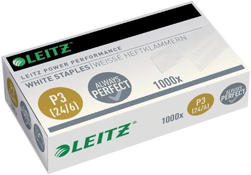 Nieten Leitz P3 24/6 wit 1000 stuks
