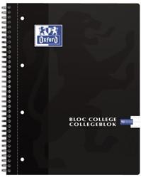 Collegeblok Oxford A4+ 4-gaats lijn 90vel zwart