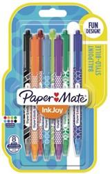 Balpen Paper Mate inkjoy 100 wrap assorti