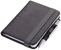 Notitieboek din A7 incl balpen zwart
