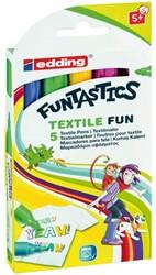 Viltstift Edding 17 Fun textiel rond 2-3mm ass