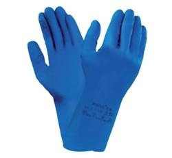 Huishoudhandschoen Nova latex blauw medium