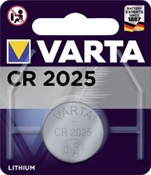Batterij Varta knoopcel CR2025 lithium blister à 1stuk