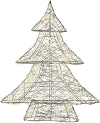 Micro LED kerstboom 40cm zilver
