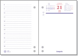 Omlegblok 2019 Brepols 3 boorgaten 1 dag/2 pagina 8.4x12cm