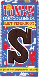 Tony's Chocolonely puur pepernoot S 180gr