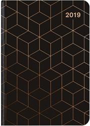 Agenda 2019 teNeues Midi Flexi Glamline 12x17cm zwart koper