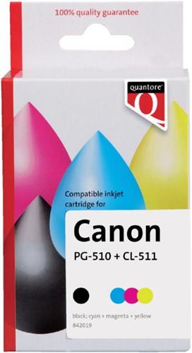 Inktcartridge Quantore Canon PG-510 CL-511 zwart +  kleur
