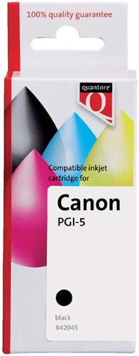 Inktcartridge Quantore Canon PGI-5 zwart + chip