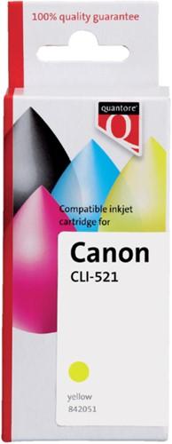 Inktcartridge Quantore Canon CLI-521 geel+chip