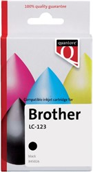 Inkcartridge Quantore Brother LC-123 zwart