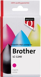 Inkcartridge Quantore Brother LC-1240 rood