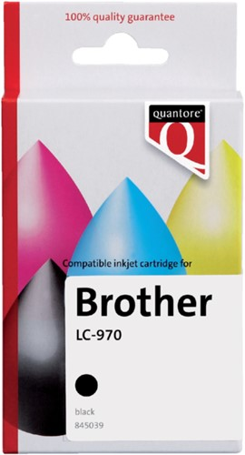 Inktcartridge Quantore Brother LC-970 zwart