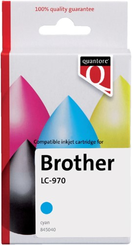 Inktcartridge Quantore Brother LC-970 blauw