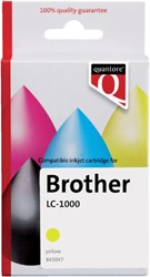 Inkcartridge Quantore Brother LC-1000 geel