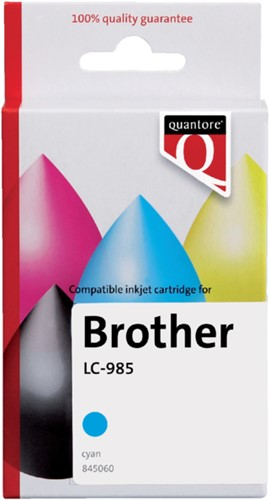 Inktcartridge Quantore Brother LC-985 blauw