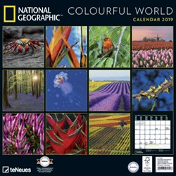 Kalender 2019 teNeues National Geographic coulourful world 30x30cm
