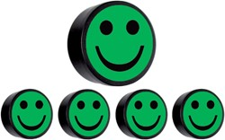 Magneet smiley 35mm groen