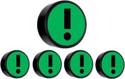 Magneet attentie 35mm groen