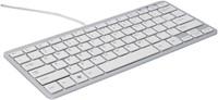 Ergonomisch toetsenbord R-Go Tools Compact Azerty zilver-wit-1