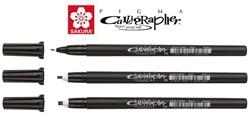 Kalligrafieset Bruynzeel Sakura Pigma 3 breedtes zwart