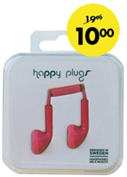 HEADSET HAMA HAPPY PLUGS ROOD 1 STUK