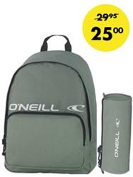 O'Neill rugzak en ronde etui solid khaki (set)