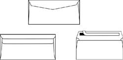 Envelop C5/6 114x229mm venster rechts zelfklevend wit 500st
