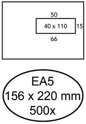 Envelop Hermes EA5 156x220mm venster 4x11rechts 500stuks
