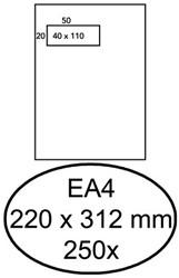 Envelop Hermes EA4 220x312mm venster 4x11links zelfkl 250st