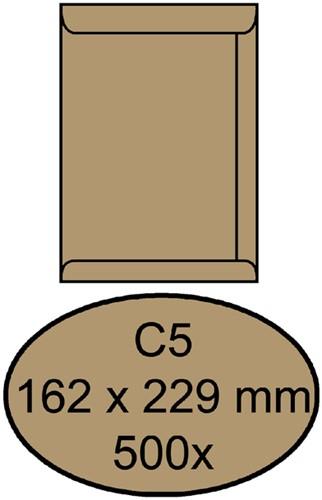 Envelop Quantore akte C5 162x229mm bruinkraft 500stuks