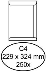 Envelop Hermes akte C4 229x324mm zelfklevend wit 250stuk