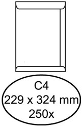 Envelop Hermes C4 229x324mm venster 4x11links 250stuks