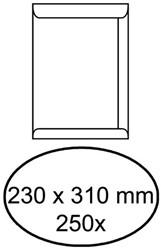 Envelop akte 230x310mm zelfklevend 100gr wit 250stuks