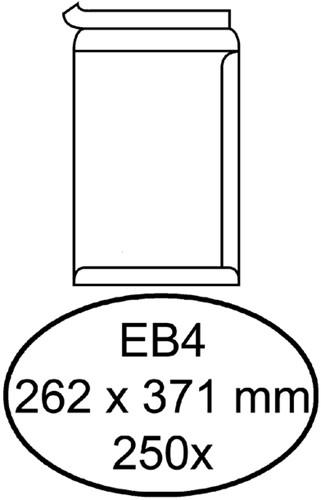 Envelop Quantore akte EB4 262x371mm zelfklevend wit 250stuks