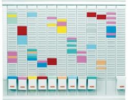 Planbord Nobo maand 12 panelen met 32 sleuven nr.1.5
