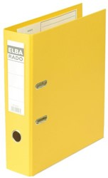Ordner Elba Rado plast A4 80mm pvc geel
