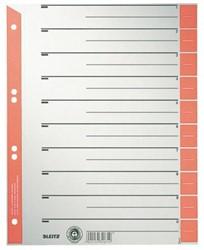 Scheidingsbladen Leitz 1652 A4 karton 230gr 4-gaats rood