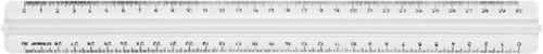 Liniaal M+R 1330 300mm met handgreep transparant