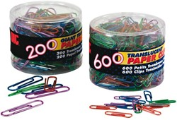 Paperclip Oic 50mm rond 200stuks assorti gelakt