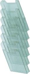 Folderhouder Exacompta wand A4 staand groen transparant