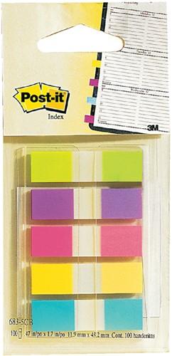 Indextabs 3M Post-it 6835 11.9x43.1mm assorti