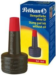 Stempelinkt Pelikan flacon 28ml rood