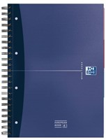 Cursusblok Oxford Essentials A4+ 120vel dubbelspiraal assorti-1
