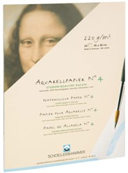 Aquarelblok Schoellershammer 30x40cm 220gram ruw 20vel